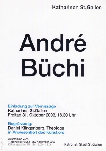 Katharinen St.Gallen 2003 André Büchi